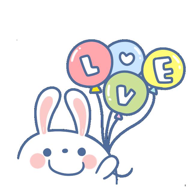贴纸名称:兔兔那么可爱