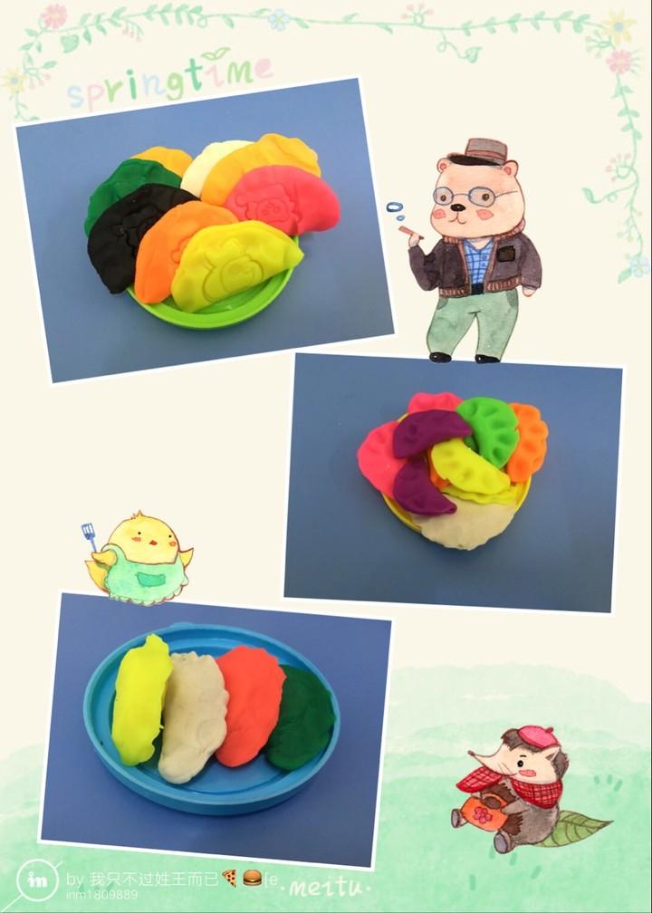 包好的饺子,盖上动物印章,变得跟可爱的! 2016.11.01  啊呜!啊呜!